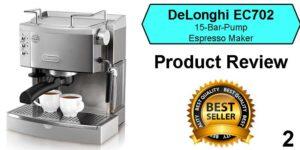 Best espresso machine under 200 - Delonghi EC702