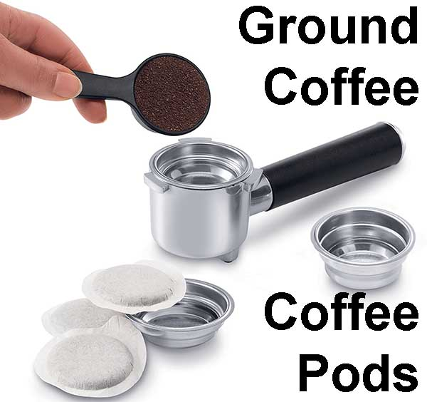 Delonghi EC860 Ground Coffee and Pods