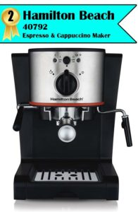 Best espresso machine under 100 - Hamilton Beach espresso maker