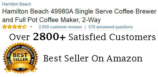 Hamilton Beach 49980A Coffee Machine Customer Ratings