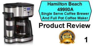 Hamilton Beach 49980A Coffee Machine Review - Best Coffee Machine