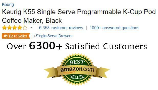 Keurig K55 Single Serve Programmable K-Cup Pod Coffee Maker Customer Ratings