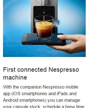 Nespresso C75 First Connected Espresso Machine - best espresso machine under 300
