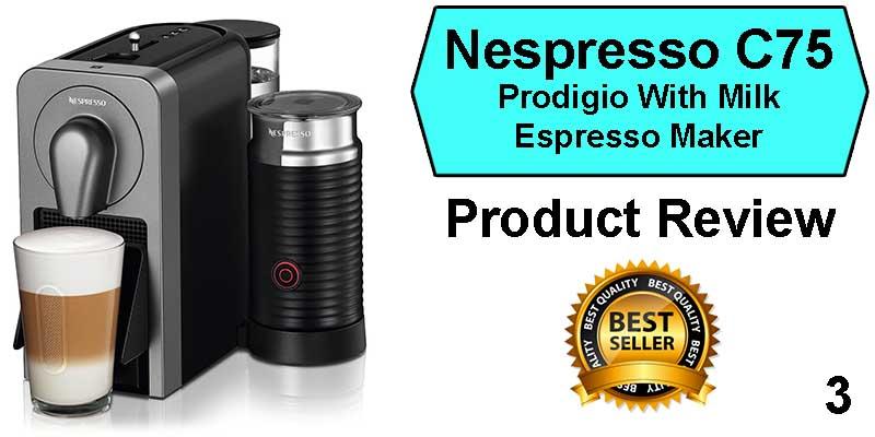 Best Espresso Machine Under 300 - Nespresso C75 Prodigio