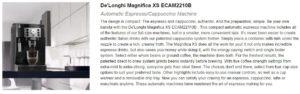 Best Espresso Machine Under 1000 De'Longhi Magnifica XS ECAM2210B