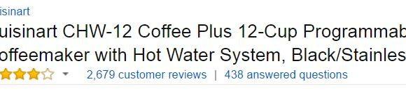 Cuisinart CHW Coffee Maker - Best Coffee Makers