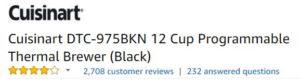 Cuisinart coffee machine customer ratings