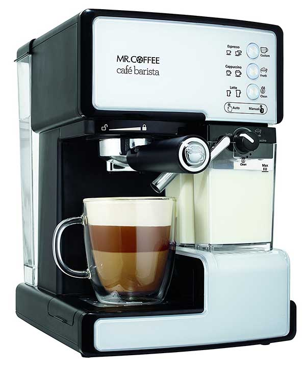 mr coffee ecmp1102 caf barista premium espresso machine cappuccino system review. Black Bedroom Furniture Sets. Home Design Ideas