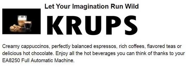 krups espresso machine 8250