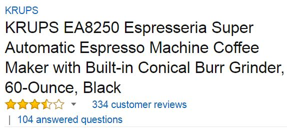 krups espresso machine customer ratings