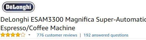 Best Espresso Machine Under 1000 - Delonghi ESAM3300 Magnifica Super-Automatic Espresso