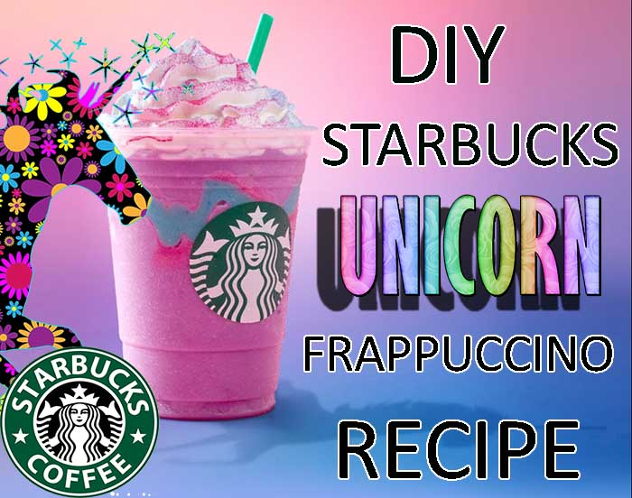 DIY Starbucks Unicorn Frappuccino Recipe