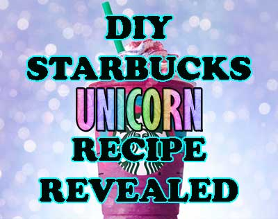 how to make Starbucks Unicorn Frappuccino