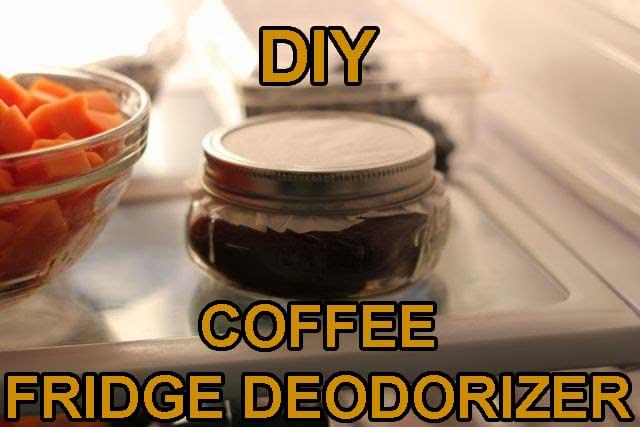 DIY Coffee Fridge Deodorizer