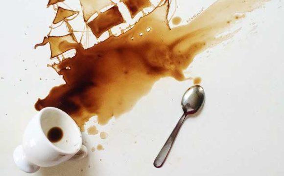 DIY Coffee Painting Artwork