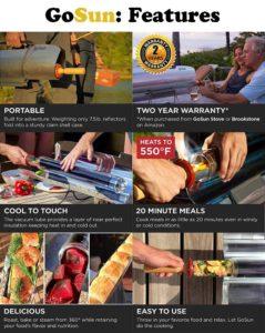 GoSun Portable Solar Cooker For Sale