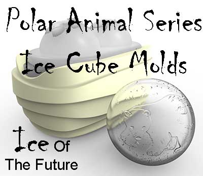 Polar Animal Series Ice Cube Molds