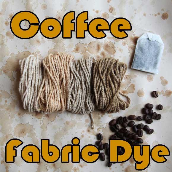 DIY coffee fabric dye