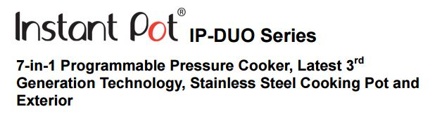 instant pot duo for sale
