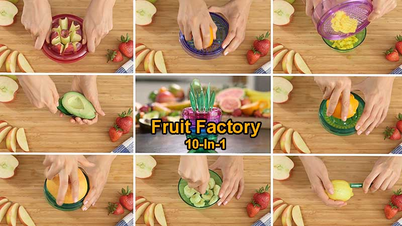 10 in 1 kitchen gadget fruit factory for sale