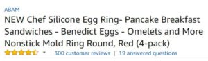 Chef Silicone Egg Ring customer ratings