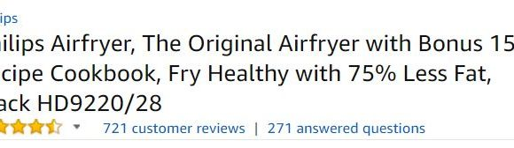 Philips Airfryer Customer Ratings