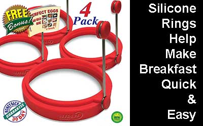 Silicone Rings Help Make Breakfast Quick and Easy