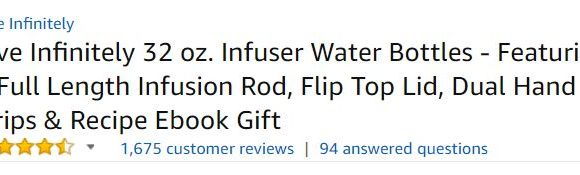 infusion water bottle customer ratings