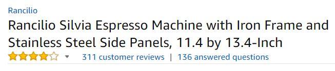 rancilio silvia ratings and review