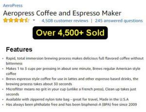 Aeropress Coffee and Espresso Maker For Sale