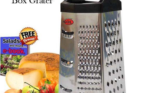 Box Grater Steel 6 sided kitchen gadget