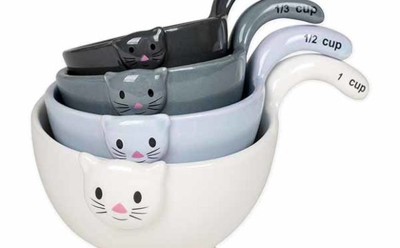 Ceramic Cat Measuring Cups Amp Baking Bowls