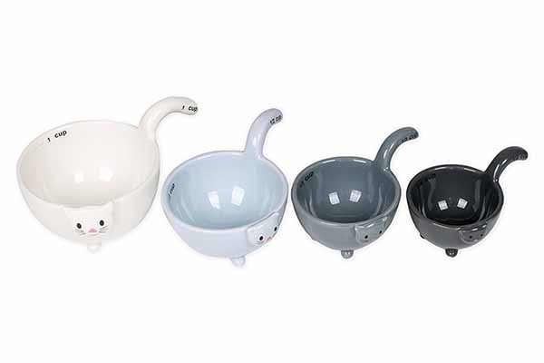 Ceramic Cat Measuring Cups & Baking Bowls kitchen gadgets