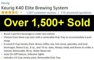 Keurig K40 Elite brewing system customer rankings and reviews