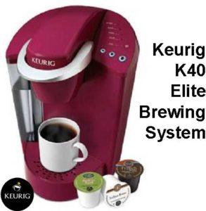 Keurig K40 elite brewing system for sale