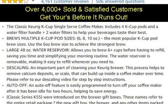 Keurig K55 Coffee Maker On Sale