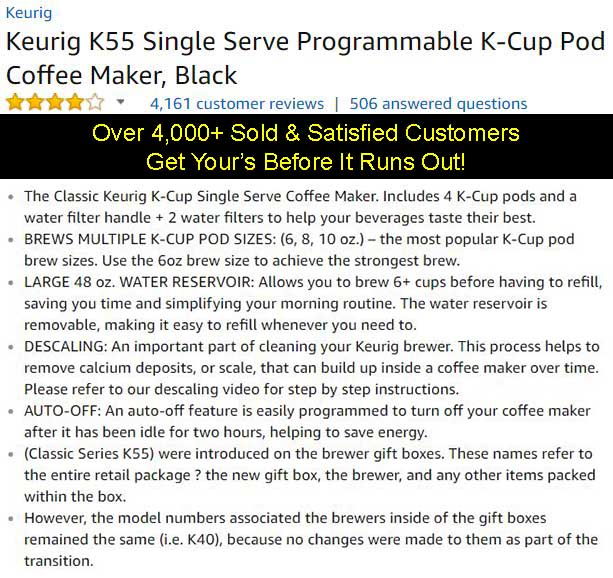 Keurig K55 Coffee Maker On Sale