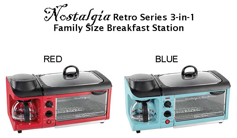 Nostalgia Retro Series Breakfast Station Red Product Review