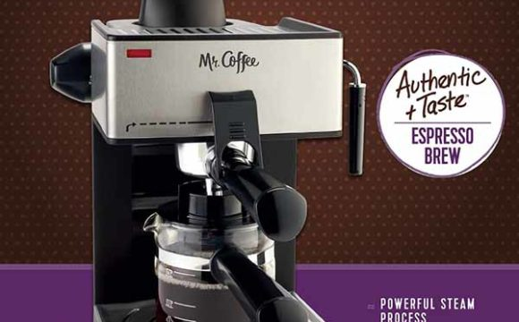 mr coffee 4 cup steam espresso machine system