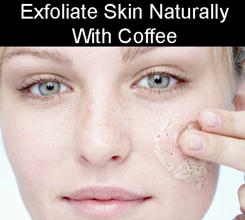 Natural Skincare with coffee