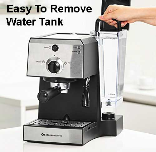 EspressoWorks Espresso And Cappuccino Maker System - Easy To Remove Water Tank