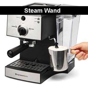 EspressoWorks All In One Espresso And Cappuccino Maker Review - Includes built in steam wand