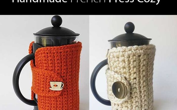 Super Cool Gift Ideas For Coffee Lovers - Handmade French Press Cozy