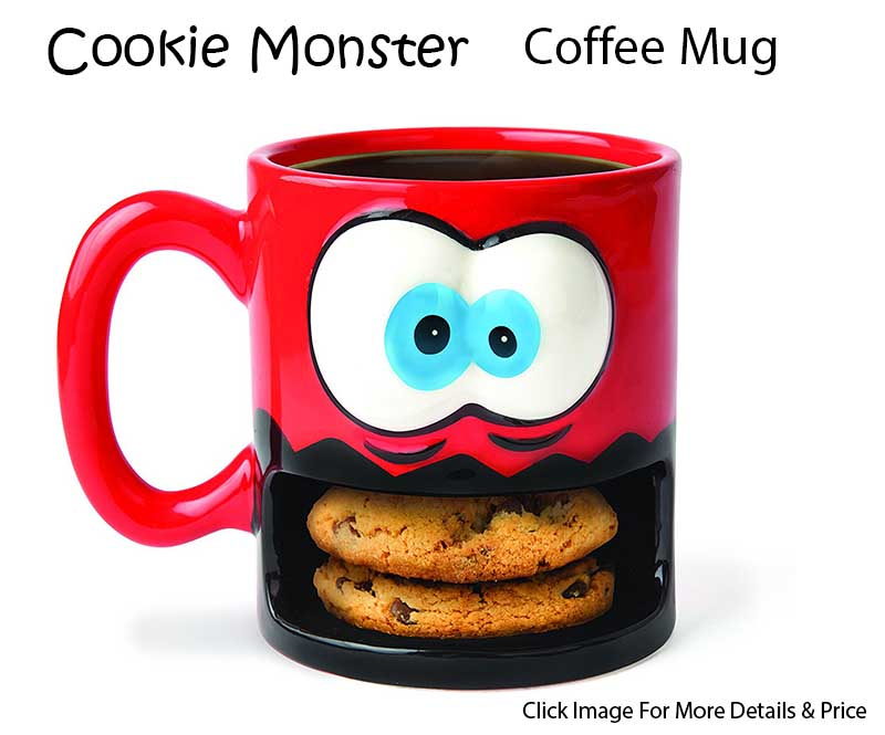Super Cool Gift Ideas For Coffee Lovers - Cookie Monster Coffee Mug