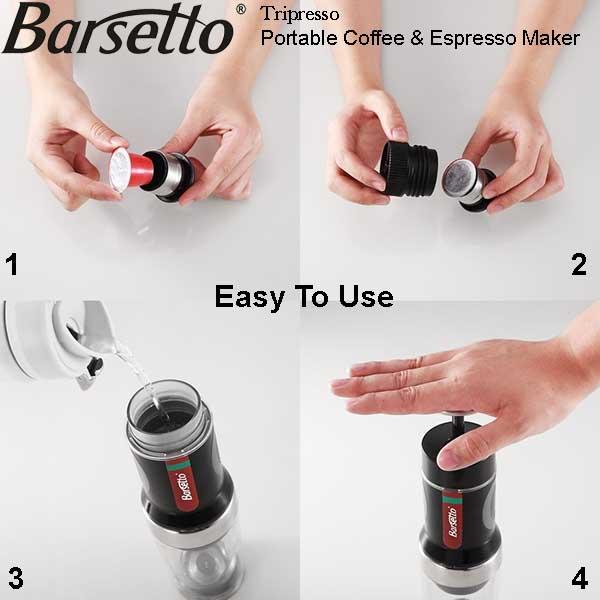 Barsetto Tripresso Portable Espresso & Coffee Maker Review