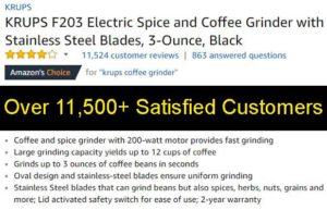Best Budget Coffee Grinder Ranked Krups Customer Ratings