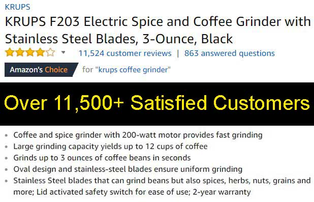 Best Budget Coffee Grinder Ranked Krups Customer Ratings