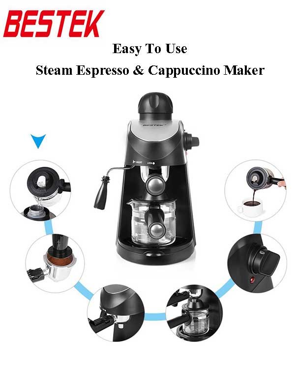 Bestek Steam Espresso and Cappuccino Maker Review