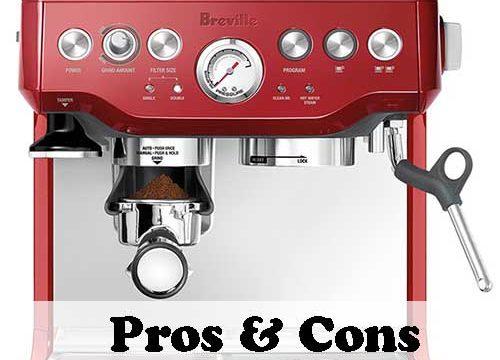 Breville BES870XL Barista Express Espresso Machine Pros & Cons