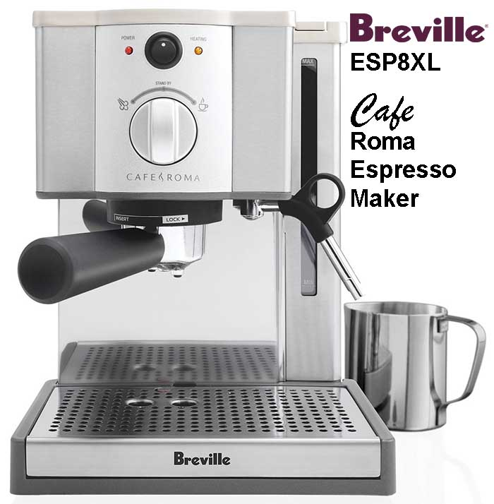Breville ESP8XL Cafe Roma Espresso Maker Product Review